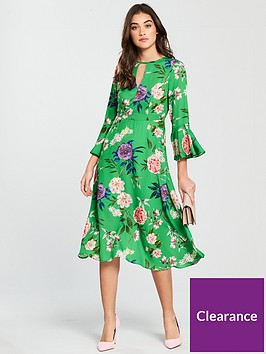 v-by-very-keyhole-midi-dress-green