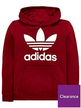 adidas-originals-boys-trefoil-hoodie-burgundy