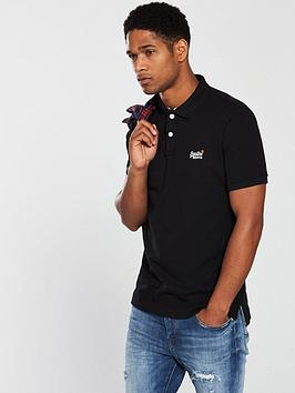 Superdry Superdry Classic Pique Polo Shirt - Black Picture