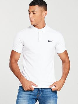 Superdry Superdry Classic Pique Polo Shirt - White Picture