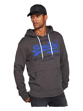 Superdry  Sweat Shirt Shop Duo Hoodie - Winter Charcoal