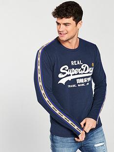 superdry-vintage-logo-panel-stripe-tee