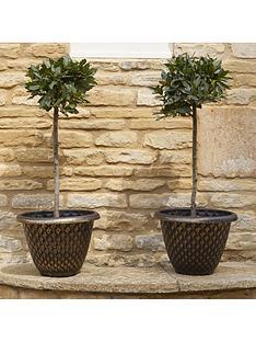 pair-of-gold-pinecone-planters-33-cm-diameter