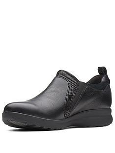 6bcd4c1f6fb Clarks Un Adorn Zip Flat Shoe - Black
