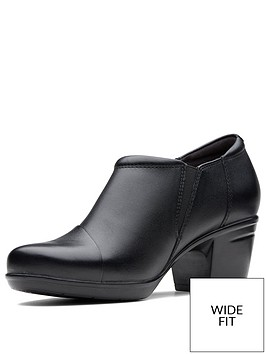 clarks-wide-fit-emslie-claudia-slip-on-heeled-shoe-bootnbsp--black