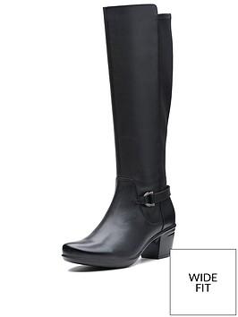 clarks-wide-fit-emslie-march-knee-high-boots-black