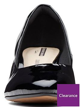 a8e233c62a02 ... Clarks Wide Fit Linvale Jerica Court Shoe - Black Patent. View larger