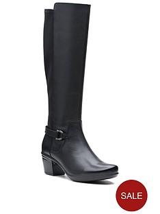 clarks-emslie-march-knee-high-boot-black