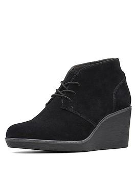 clarks-hazen-charm-low-wedge-lace-up-ankle-boots-black-suede