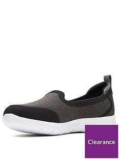 7ab83c3a8d91 Clarks Step Allena Lo Slip On Espadrille Shoe - Dark Grey