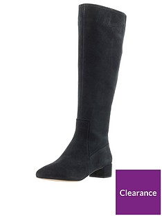 a7f95fc1017c Clarks Orabella Ava Knee High Boot - Black Suede