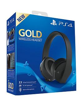 Playstation 4 Playstation 4 Official Playstation 4 Gold Wireless Headset Picture