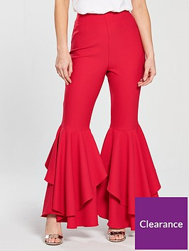 v-by-very-petite-ruffle-detail-wide-leg-trouser-rednbsp