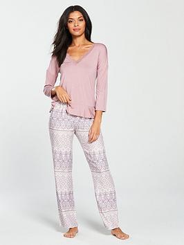 v-by-very-frill-hem-top-and-paisley-trouser-pyjama-set