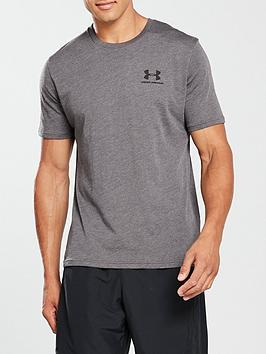 Under Armour Under Armour Sportstyle Left Chest Logo T-Shirt - Charcoal Picture
