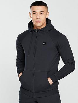 Under Armour Under Armour Rival Fleece Full Zip Hoodie - Black Picture
