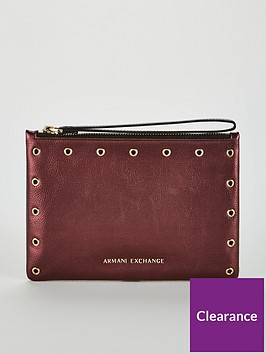 5680aaab2e3 Armani Exchange Small Pouch Clutch