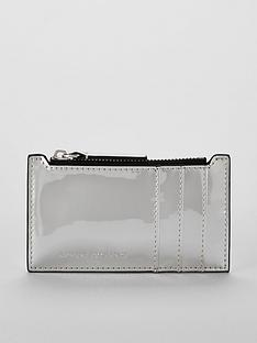 armani-exchange-credit-card-holder-purse-silver