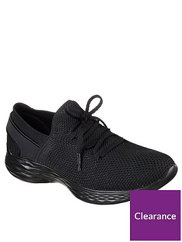 skechers-you-spirit-lace-up-trainers-black