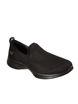 skechers-go-walk-4-seamless-flat-knit-slip-on-shoes-black