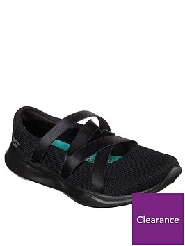 skechers-serene-elation-knit-satin-straps-ballet-pumps-black
