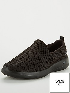 skechers-go-walk-joy-wide-fit-slip-on-plimsoll-shoes-black