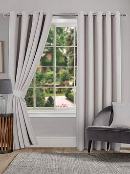 Very Hugo Blackout Linen Eyelet Curtains Picture