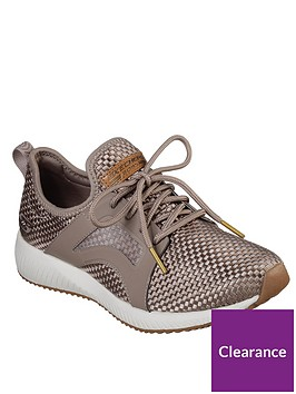skechers-bobs-squad-insta-cool-lace-up-trainers-brown