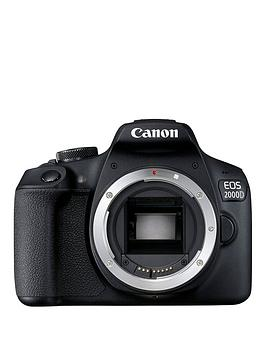 Canon   Eos 2000D Slr Black Camera - Body Only