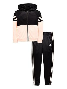 adidas-girls-hooded-poly-tracksuit