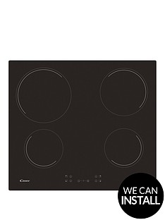candy-ch64ccbnbsp60cm-ceramic-hob-with-optional-installation-black