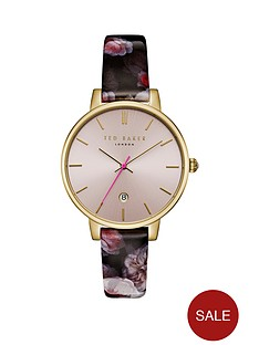 ted-baker-ted-baker-blush-and-gold-dial-floral-print-strap-ladies-watch