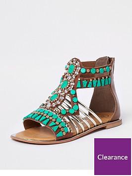river-island-girls-turquoise-gem-embellished-t-bar-sandals