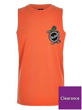 river-island-boys-orange-lsquonew-yorkrsquo-badge-vest