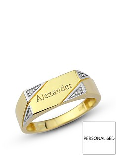 keepsafe-personalised-9-carat-yellow-gold-diamond-set-mens-ring