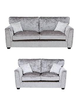 Very Glitz Fabric Standard Back 3 Seater + 2 Seater Sofa Set (Buy And  ... Picture