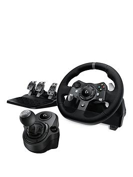 Logitech Logitech G920 Driving Force Racing Wheel With Pedals And Force  ... Picture