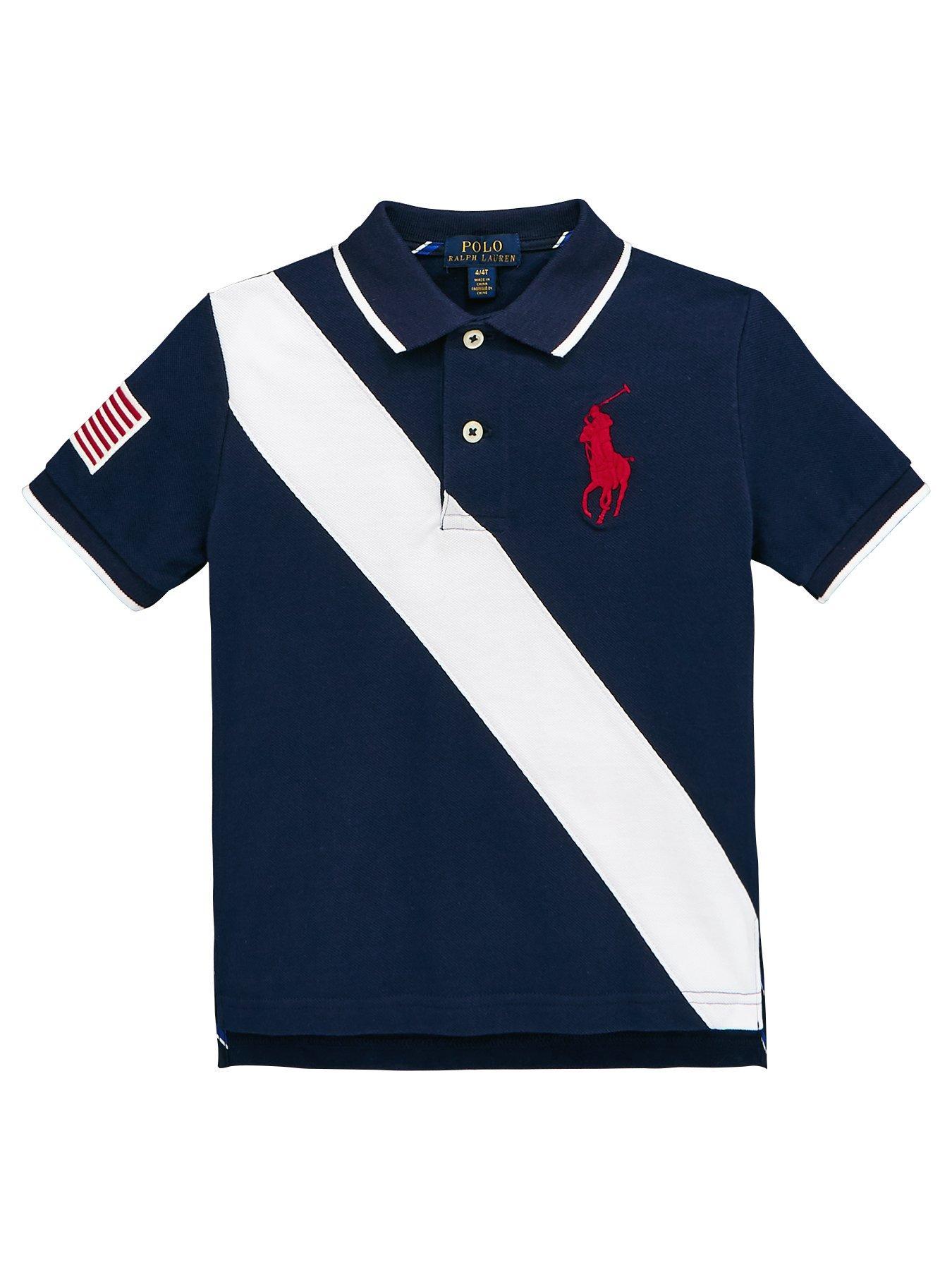 Ralph Lauren Boys Short Sleeve Banner Polo