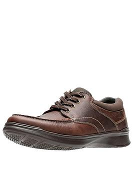 Clarks Clarks Cotrell Edge Wide Fit Leather Lace Up Shoes - Brown Picture