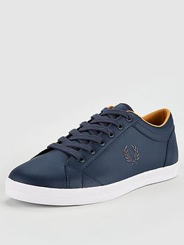 fred-perry-baseline-leather-trainer-dark-airforce