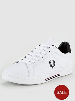 fred-perry-b722-leather-trainers-whitenavy