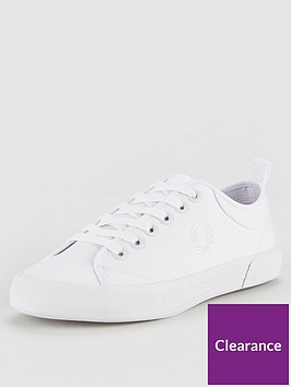 fred-perry-horton-fine-canvas-trainers-white