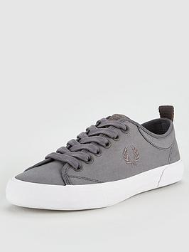fred-perry-horton-fine-canvas-trainers-steel