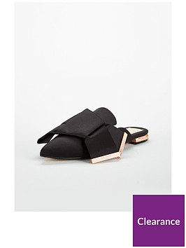 ted-baker-wrena-satin-bow-backless-mule-black