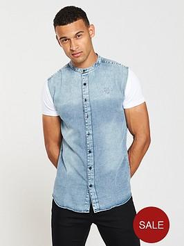 sik-silk-grandad-collar-washed-shirt