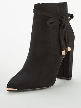 ted-baker-qatena-suede-bow-ankle-boot-black