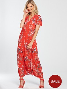 miss-selfridge-petite-maxi-wrap-dress-red-printed