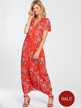miss-selfridge-petite-maxi-wrap-dress-red-printed