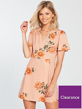 miss-selfridge-petite-wrap-tea-dress-floral