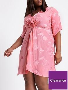 ri-plus-kimono-front-knot-dress-pink
